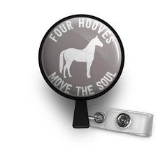 horse lover nurse badge reel