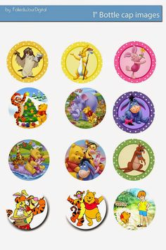 Free Bottle Cap Images: Winnie the Pooh free digital bottle cap images. For camp Badges? Bottle Cap Jewelry, Bottle Cap Necklace, Bottle Cap Art, Bottle Top, Bottle Cap Projects, Bottle Cap Crafts, Bottle Cap Magnets, Pooh Bear, Diy And Crafts
