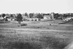 Earliest known photograph of Penrith in the outer west of Sydney in 1852.The view is from Lemongrove Hill and is looking towards St Stephen,The Martyr Church.     •Penrith City Library•