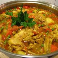 - Moroccan Stewed Chicken With Couscous
