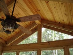Gorgeous knotty pine ceiling