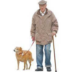 senhor com cachorro