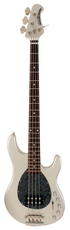 Music Man Sterling H Piezo Sterling Silver Electric Bass Guitar #bassguitar