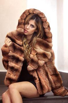 Chinchilla fur hoody