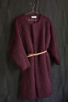 Dutchess mohair coat burgundy http://shop.dutch-ess.com/mohair-coat.html