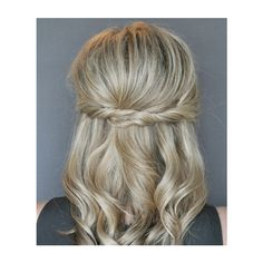 Step 4 How to Do a Half-Up Twist Hairstyle Real Simple ❤ liked on Polyvore