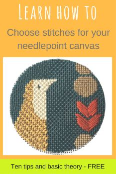 how to choose needlepoint stitches for a canvas