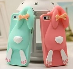 iPhone 6S/6S Plus Cartoon Cases Buckteeth Rabbit Silica Gel Ste Back Cover for iPhone 6/6S /6S Plus