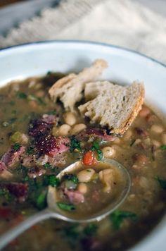 Grah - Croatian bean stew - HeNeedsFood - J. Chou - Grah - Croatian bean stew - HeNeedsFood Croatian Ham and Bean Soup (Grah) ---- - Bean And Bacon Soup, Ham And Beans, Croation Recipes, Bosnian Recipes, Hungarian Recipes, Albanian Recipes, Soup Recipes, Cooking Recipes, Bread Recipes