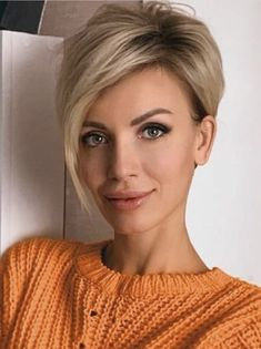 Fresh style of short blonde hair for a chic look - ., Fresh style of short blonde hair to get a chic look - Short Hairstyles For Women, Hairstyles Haircuts, Hairstyle Short, Short Haircuts, School Hairstyles, Latest Hairstyles, Vintage Hairstyles, Natural Hairstyles, Hairstyle Ideas