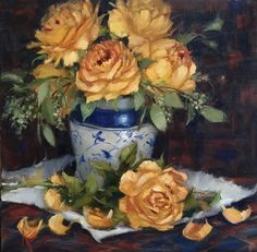 A personal favorite from my Etsy shop https://www.etsy.com/listing/256817479/roses-still-life14x14-original-krista