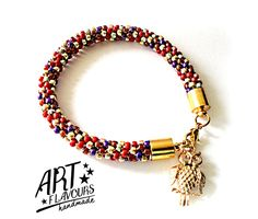 autumn bracelet in red style