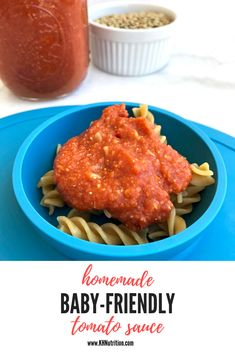 I Love Canned Tomatoes & My Homemade Baby-Friendly Tomato Sauce! Why I Love Canned Tomatoes & My Homemade Baby-Friendly Tomato Sauce!,Why I Love Canned Tomatoes & My Homemade Baby-Friendly Tomato Sauce! Baby Pasta Sauce, Tomato Pasta Sauce, Pasta Sauce Recipes, Tomato Sauce Recipe, Homemade Tomato Sauce, Homemade Pasta, Toddler Meals, Kids Meals, Baby Meals