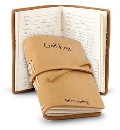 Gift Idea: Personalized Leather Bound Golf Log #lorisgolfshoppe