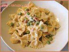 La pasta con prosciutto cotto piselli e philadelphia è una ricetta semplicissima e veloce da preparare.