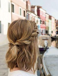 Trendy Unordentlich Verdreht Halb Updo für Medium Haar - Schule Frisuren