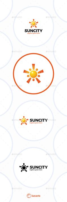 Sun City Logo  Star Town — Vector EPS #identity #social • Available here → https://graphicriver.net/item/sun-city-logo-star-town/11936292?ref=pxcr