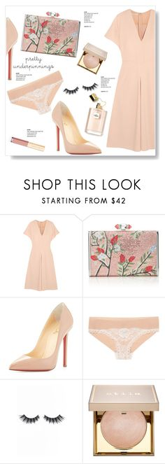 """Lady"" by viola279 ❤ liked on Polyvore featuring STELLA McCARTNEY, Judith Leiber, Christian Louboutin, Violet Voss, Stila, Dolce&Gabbana and prettyunderpinnings"