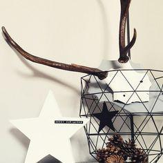 #deer #christmas #white #grey #dymo #drahtkorb #weihnachtsdeko #weihnachten