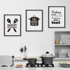 """Universe of goods - Buy """" Cooking With Love Kitchen Wall Art Prints And Poster Baking With Heart Canvas Painting Wall Pictures Home Kitchen Decor"""" for only USD. Kitchen Wall Art, Kitchen Paint, Home Decor Kitchen, Home Wall Art, Kitchen Design, Kitchen Ideas, Rustic Kitchen, Kitchen Inspiration, Kitchen Canvas Art"""