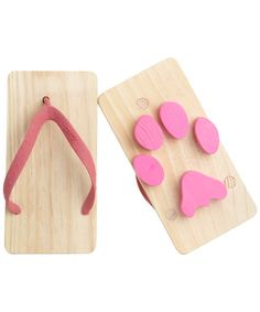 kawaii and cute products or gadgets  Adorable  and practical products Pink Wooden Animal Print Toy Beach Sandals, Kiko