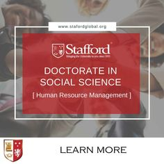 If you are a Master Degree holder in Human Resource Management who aspires to become a lecturer at university level, or you simply want a change in your career path; the Doctorate in Social Science (HRM) distance learning may just be the right course for you.   The programme will allow learners to acquire a deeper understanding of the different levels of human resource management in organisations by offering you a detail-oriented and methodical course.