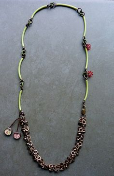 Used my Repurposed Curved pieces like this? Lorelei Eurto #MixedMetal #UpcycledCostumeJewelry