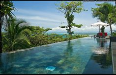 Infinity Pool Overlooks the Rainforest as well as the Ocean