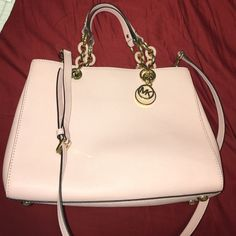 Michael Kors Leather pastel pink brand new with tags really beautiful color! Michael Kors Bags Satchels