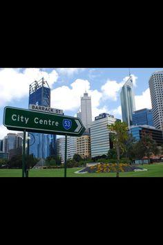 The city of Perth WA