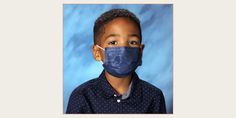 """This Six-Year-Old Kept His Mask on for Picture Day: """"I Always Listen to My Mom!"""" School Pictures, Bless The Child, Picture Day, Good Smile, Apple News, Oprah, Year Old, How To Wear, Beauty"""