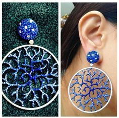 Sapphire and diamond earrings ~ Instagram