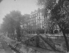 """Le quai d'Anjou photographié par Eugène Atget """"une matinée d'août 1924"""" (Paris 4ème)"""