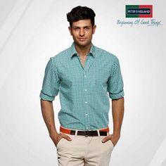 Latest Men Casual Stylish Shirts by Peter England   Pakifashion