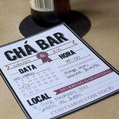 Convite de chá bar para download de graça. Foto: Chuva de Papel convites.                                                                                                                                                                                 Mais