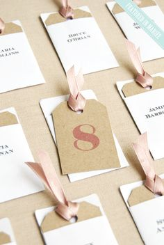 Small Escort Card Tags & Envelopes - DIY Wedding printable templates