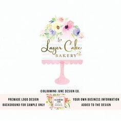 logo de soporte prefabricados pastel acuarela con flores a