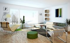 living-room-designs. I like the wicker chair.