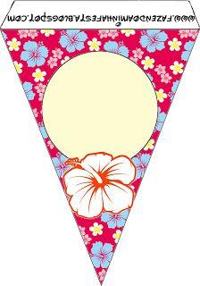 Imprimibles para Fiesta Hawaiana 10.