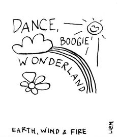 Earth, Wind & Fire. Boogie Wonderland. 365 illustrated lyrics project, Brigitte Liem.