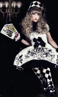 lolita fashion dress for lolita girls- lovely .Please also check outPinkyP Gothic Lolita Gothloli Girl created by LeahG Estilo Harajuku, Estilo Lolita, Alternative Mode, Alternative Fashion, Japanese Street Fashion, Asian Fashion, Rock Fashion, Fashion Shoot, Visual Kei