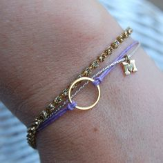 Ever After Bracelet (Gold) , Eternity, Infinity, Circle, Tiny Initial