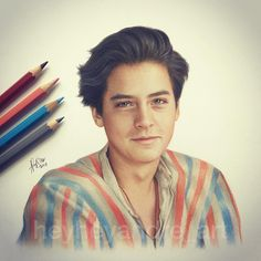 "9,163 Likes, 645 Comments - André Manguba (@heyheyandre_art) on Instagram: ""Cole Sprouse, drawn with colored pencils! ✌ Please tag him in the comments!  @colesprouse"""