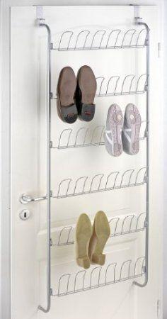 Wenko 4340030100 Türregal - für 18 Paar Schuhe, Chrom, 56 x 159.5 x 14.5 cm: Amazon.de: Küche & Haushalt