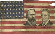 Extremely Rare Hayes-Wheeler Jugate Campaign Flag