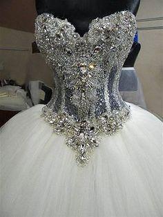 Luxury real Swarovski crystals corset royal от ROYALWEDSTORE