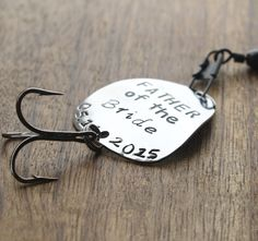 Father of the Bride Gift Fishing Lure  Father Gift Personalized Wedding Gift Personalized Dad Gift Personalized Fishing Lure Outdoors by sierrametaldesign on Etsy https://www.etsy.com/listing/180035043/father-of-the-bride-gift-fishing-lure