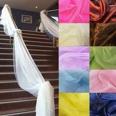 - Top Table Swags Sheer Organza Fabric Diy Wedding Party Home Stair Decor & Garden Diy Wedding Backdrop, Wedding Bows, Wedding Fabric, Wedding Ideas, Ruby Wedding, Greenery Garland, Leaf Garland, Diy Garland, Backdrop Decorations