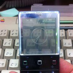 Sony Ericsson XPERIA X5  ディスプレイが透過してる。