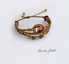 Bracelet micromacrame.Boho bracelet style.Macrame work